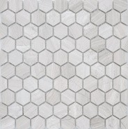 Caramelle Pietrine Hexagonal Travertino silver MAT hex 